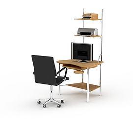 简约实木居家电脑桌<font class='myIsRed'>办公桌</font>3d模型