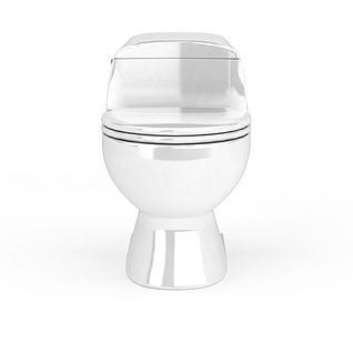 光面陶瓷马桶3d模型