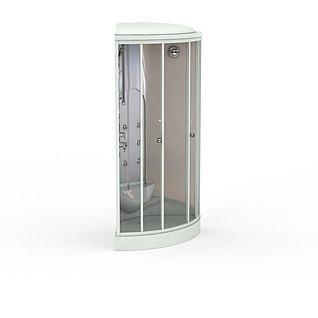 扇形沐浴间3d模型