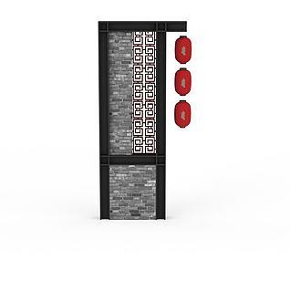 中式标示牌3d模型3d模型