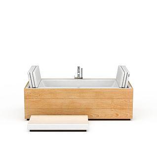 创意按摩浴缸3d模型