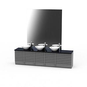 现代大理石洗手台模型