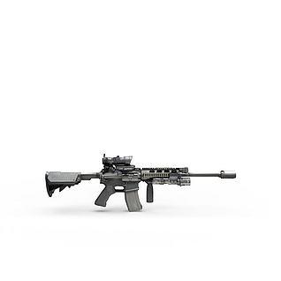 军事器械枪3d模型
