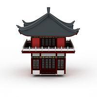 古建钟楼3d模型