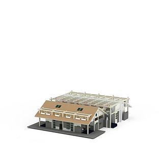 现代房屋建筑3d模型