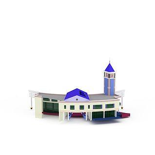 行政大厅建筑3d模型