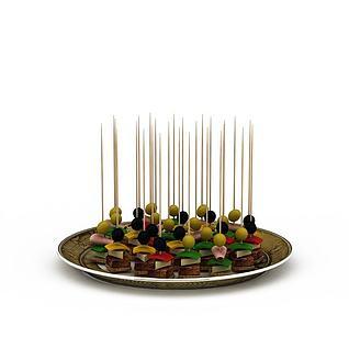 烤肉3d模型