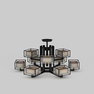 现代创意大厅吊灯3d模型3d模型