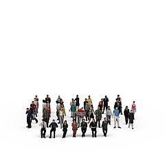 人群模型3d模型