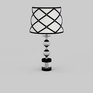 现代黑白拼色台灯3d模型