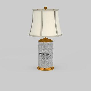 欧式陶瓷台灯3d模型