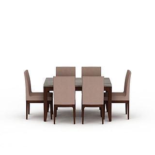 <font class='myIsRed'>现代餐桌餐椅组合</font>3d模型