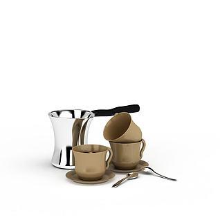 精美陶瓷咖啡杯3d模型