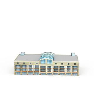 现代居民楼3d模型