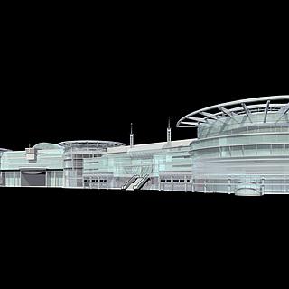 商业楼群3d模型