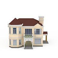 欧式别墅3D模型3d模型