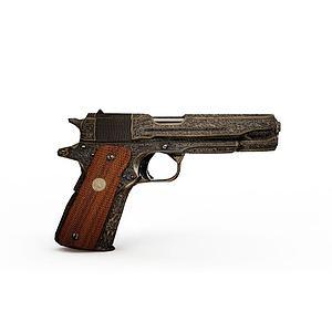 3d豪华手枪模型