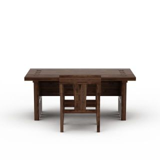 中式实木书桌书椅3d模型