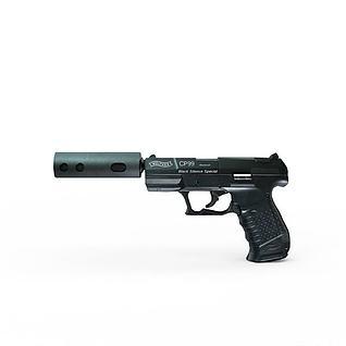 消音手枪3d模型