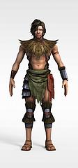 野人游戏人物动漫角色模型3d模型