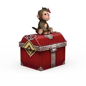 3d诛仙游戏角色动物猴模型