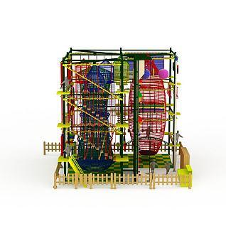 儿童拓展游乐设备3d模型