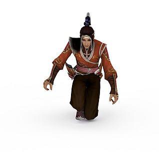 九阴真经游戏人物3d模型