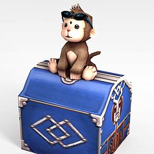 3d诛仙动漫角色动物<font class='myIsRed'>猴子</font>模型