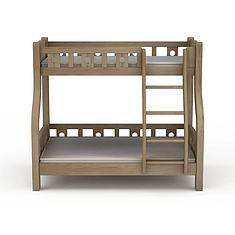 实木母子高低床3D模型3d模型