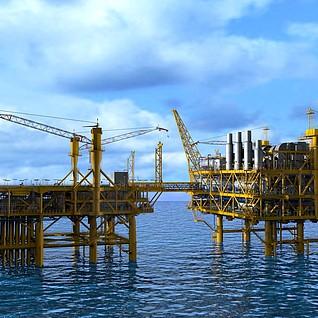 海上石油平台3d模型