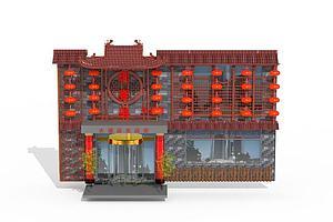 中式酒店餐厅门头