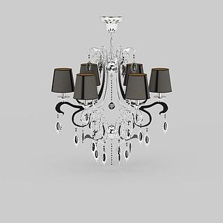 精美水晶吊灯3d模型3d模型