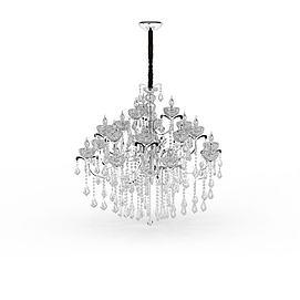 大型水晶吊灯模型