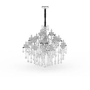 大型水晶吊灯3d模型