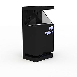 全息投影展柜3d模型