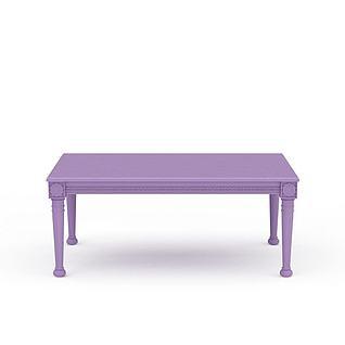 现代紫色桌子3d模型