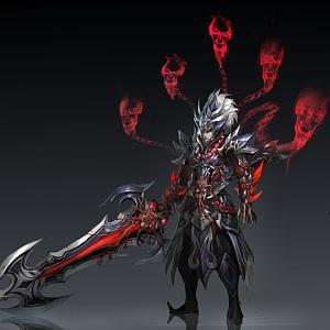 3d游戲角色武士模型
