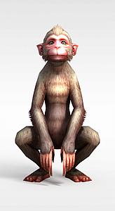 3d佛本是道游戏角色<font class='myIsRed'>猴子</font>模型