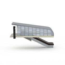 3d地铁站模型