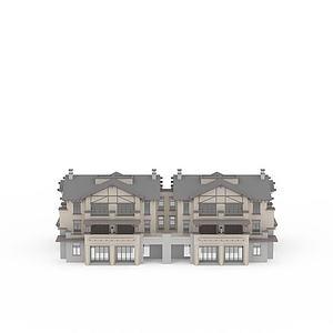 别墅建筑群模型3d模型