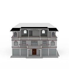 现代小洋楼别墅3D模型3d模型