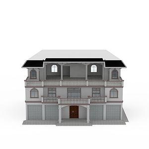 现代小洋楼别墅模型3d模型
