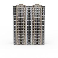 现代高层居民楼3D模型3d模型