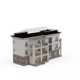 3d欧式小别墅模型