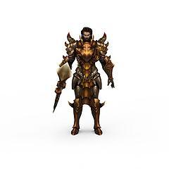 韩国网游《DKonline》游戏人物战士模型3d模型