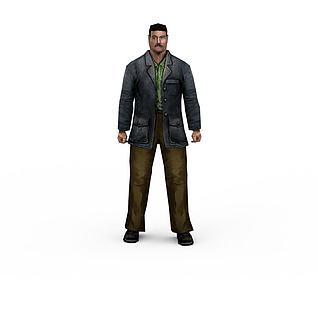 欧美男人3d模型