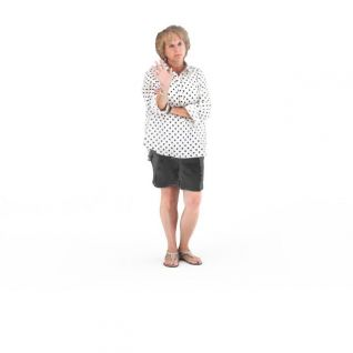 写实人物欧美中年女人3d模型