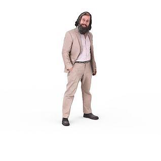 写实人物中年男人3d模型