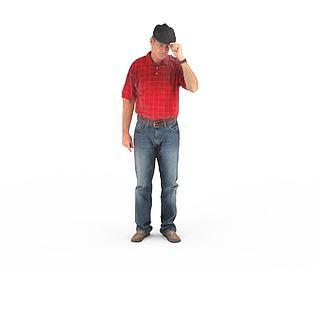 写实人物欧美男人3d模型