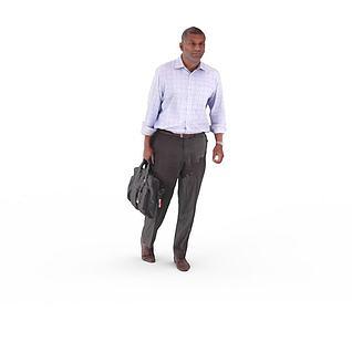 写实人物商务男人3d模型